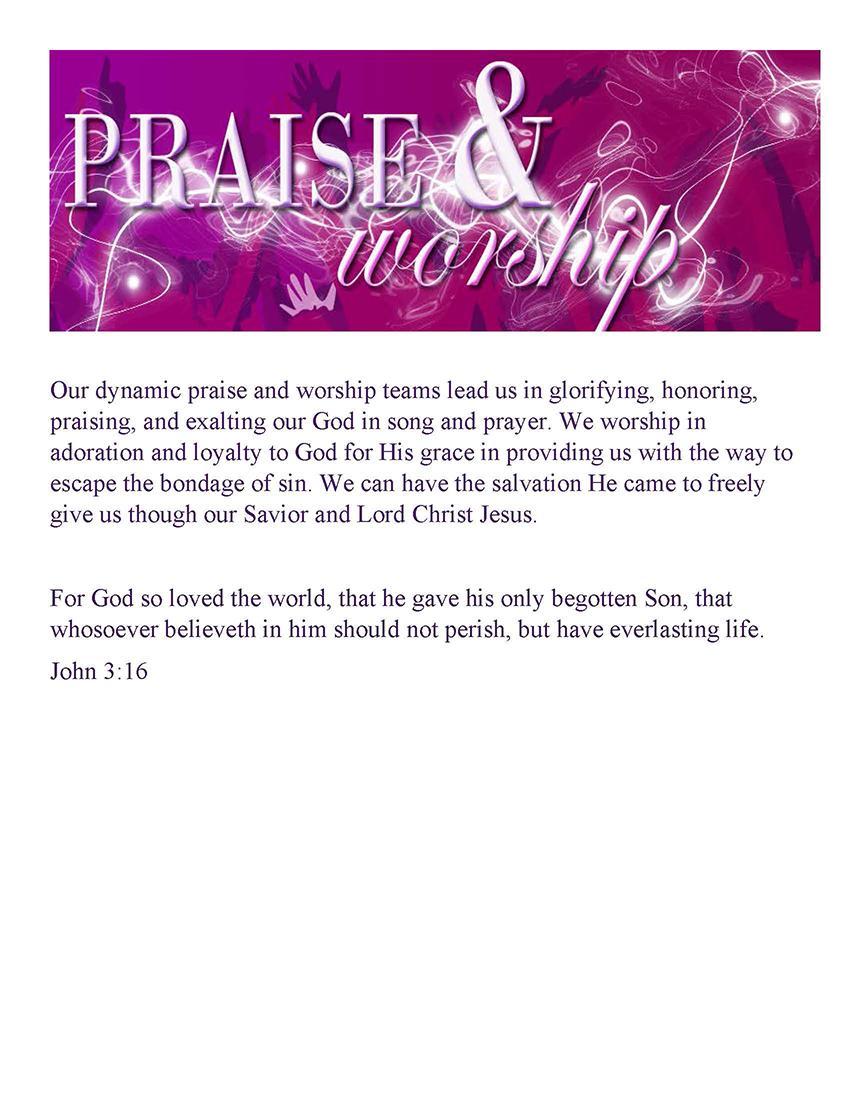 Praise Ministry